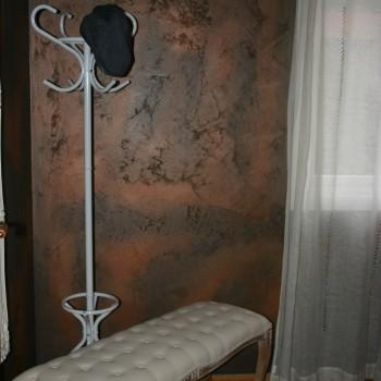 rust effekt maling på vegg
