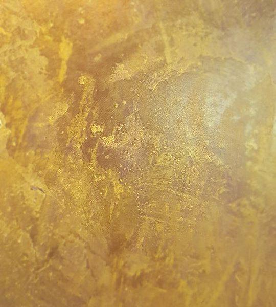 zoom in dekorsparkel gull på kakao